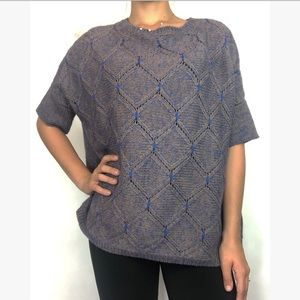 MOTH Anthropologie Knit Sweater Top Short Sleeve